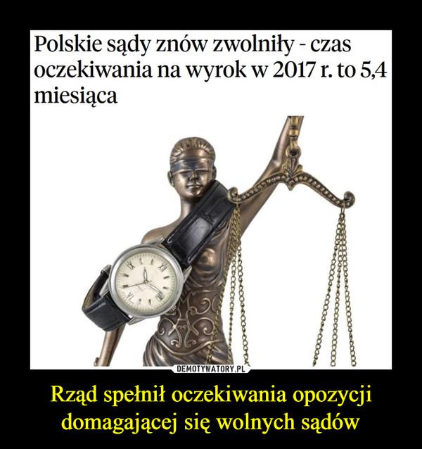 Rząd spełnił oczekiwania opozycji domagającej się wolnych sądów –