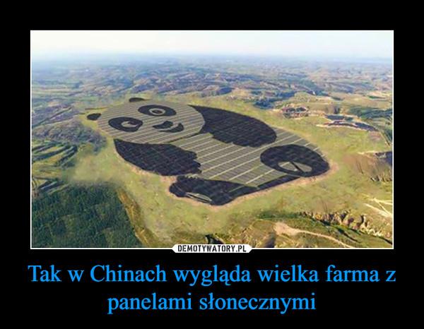 Tak w Chinach wygląda wielka farma z panelami słonecznymi –