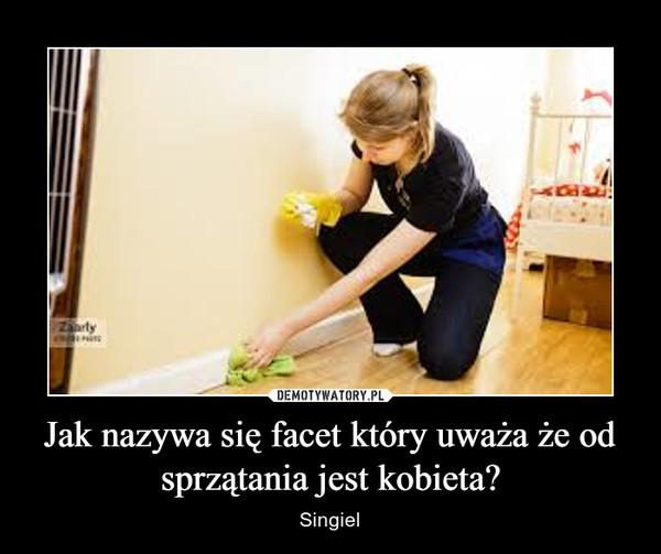 Jak nazywa się facet który uważa że od sprzątania jest kobieta? – Singiel