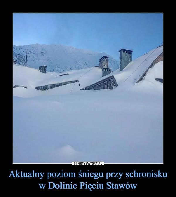 Aktualny poziom śniegu przy schronisku w Dolinie Pięciu Stawów –